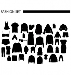 fashionset vector image
