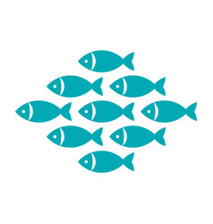fish fishes icon vector image