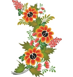 flower pattern on white background vector image