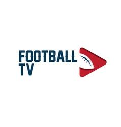 football tv vector image