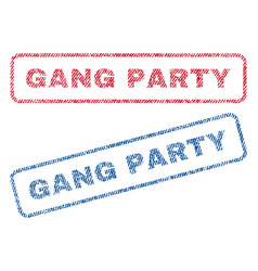 Gang party textile stamps vector