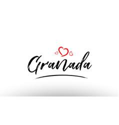 Granada europe european city name love heart vector