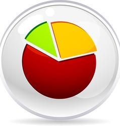 Graph ball vector image
