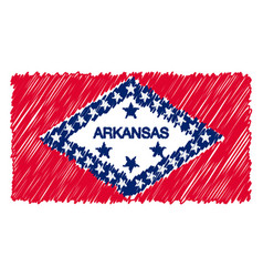 hand drawn national flag of arkansas isolated on a vector image