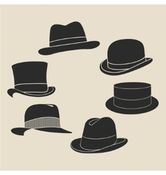 Hat label set vector image