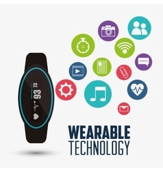 health electronic smart watch wearable technology vector image