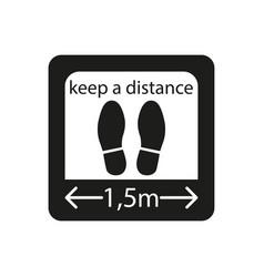 Icon a safe social distance simple vector