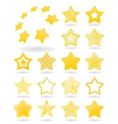 Icon a star vector