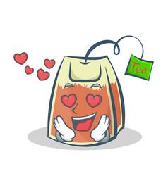 in love tea bag character cartoon vector image