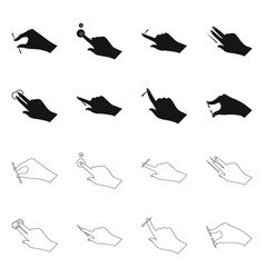 Isolated object of touchscreen and hand icon vector