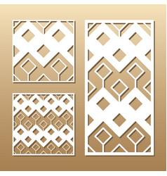 laser cut panel vector image