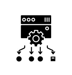 Load balancing black glyph icon vector
