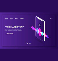 Loading page smart voice assistant with sound vector