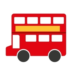london bus isolated icon design vector image