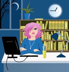 Long working hours vector