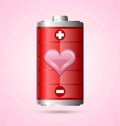 Love energy icon vector image
