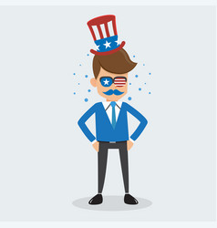 man of memorial day and happy independence day usa vector image