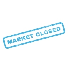 Market Closed Rubber Stamp vector image