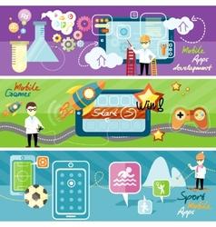 Mobile app applications vector