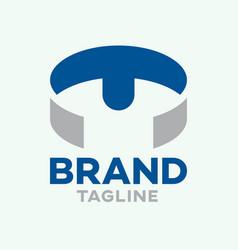 Modern t-shirt letter t logo vector