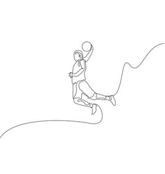 One single line drawing young energetic vector
