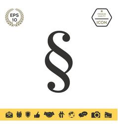 Paragraph icon symbol vector