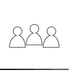 people icon design vector image