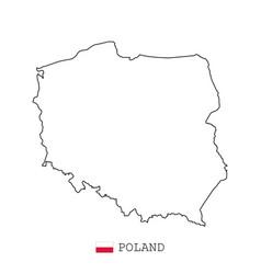 poland map line linear thin poland simple vector image