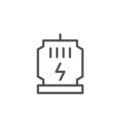 port charger line outline icon vector image