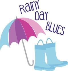 RAiny Day Blues vector