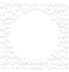 Realistic White Romantic Hearts Decor vector image