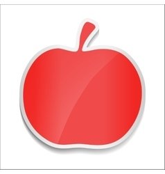 Red apple Sticker on white background vector