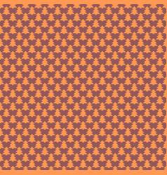 retro simple stylized pine tree pattern vector image