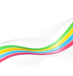 Ribbon wave background vector