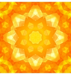 Round yellow triangles spring pattern vector image