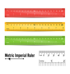 school measuring ruler measure tool vector image