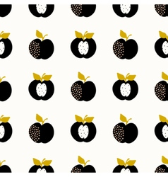 Seamless apples pattern vector