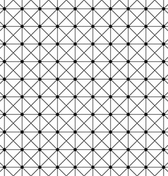 Seamless monochrome wire grid pattern design vector image