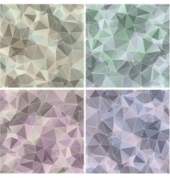 Set triangle abstract backgrounds vector
