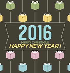 Simply and Clean 2016 New Year Card vector image