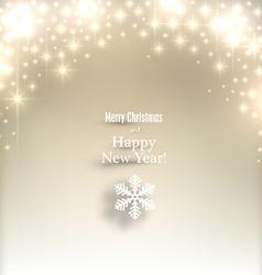 Sparkle golden christmas background vector image
