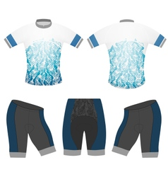 Sports t-shirt cycling vector