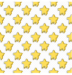 star symbol seamless pattern vector image