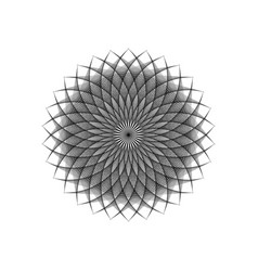 String art flower mandala sacred geometry logo vector
