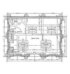 Substation floor residence plan is showing the vector