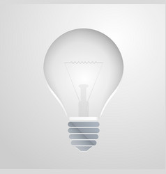 Symbol of idea the bulb vector