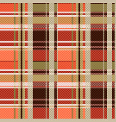 tartan seamless texture mainly in brown hues vector image