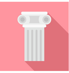 Temple pillar icon flat style vector