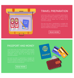 travel preparation text sample vector image