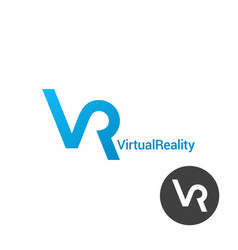vr logo virtual reality design on white vector image
